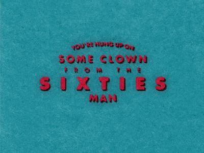 A Clown from the Sixties retro vintage retrosupplyco retrosupply type logo clown seinfeld type futura typography branding poster logo design logo vector design