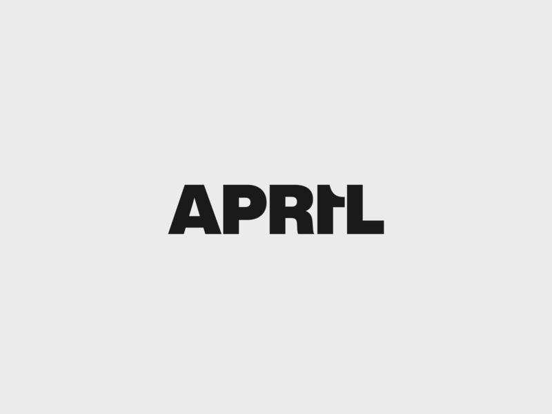 April Fools type art helvetica type april 1st april fools april branding typography logo vector design