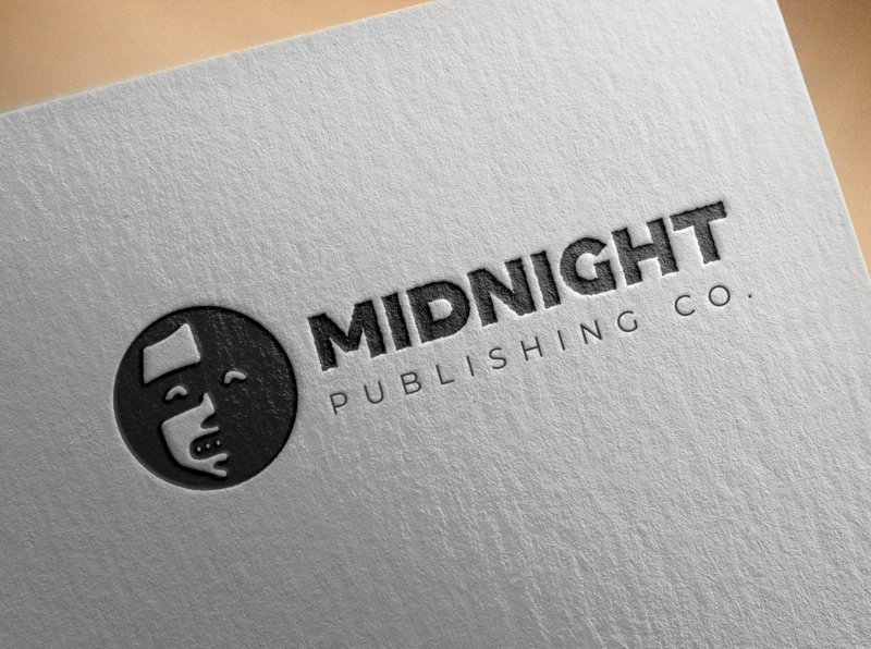 Midnight Publishing Co. midnight spooky scary reading horror books publishing branding illustration logo design logo vector design