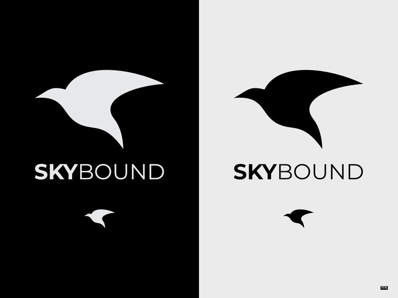 Daily Logo Challenge 12/50: Skybound airlines flight airline dailylogochallange vector logo design logo design affinity designer