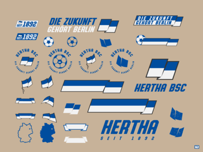 Hertha BSC Branding Elements