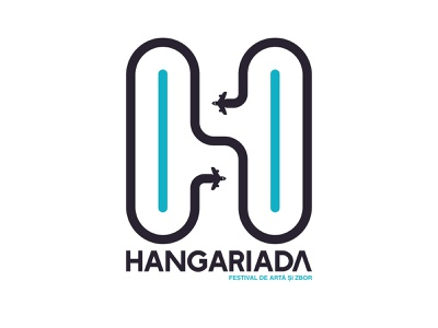 Hangariada 2019 - Logo blue adobe illustrator planes vector logo