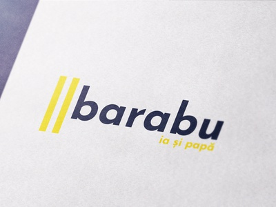 Barabu - Logo vector logo design minimalist fries barabu logo