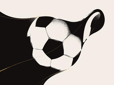 One goal, one tree. tree nature plant ball soccer procreate illustration