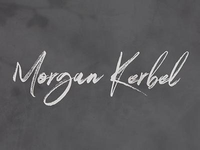 Morgan Kerbel Logo logo typography design branding