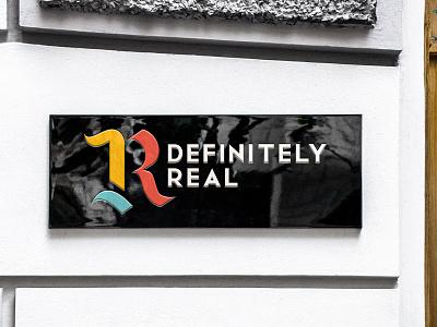 Definitely Real Logo + Branding logo branding design