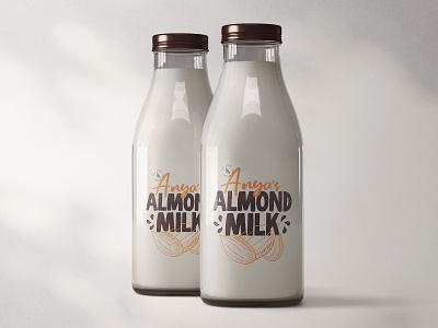 Anya's Almond Milk Logo + Branding logo branding design