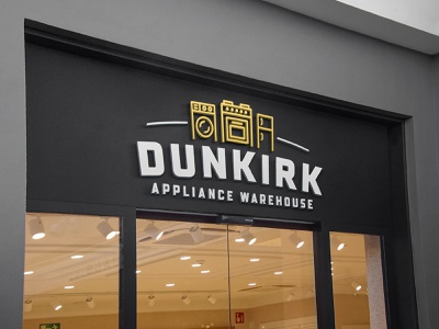 Dunkirk Appliance Warehouse Logo + Branding logo branding design