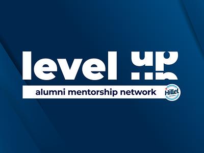 Level Up Alumni Mentorship Program minimal branding design