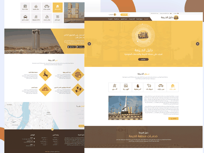 Guide site of saudia Arabia ui design ui-design ui  ux design