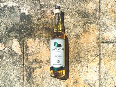 Sycamore Ohio Malt Whiskey Label wood stone sycamore bottle label bourbon classic whiskey