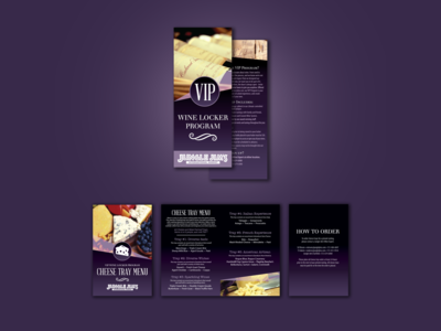 VIP Wine Locker brochure and menu