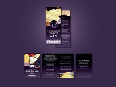 VIP Wine Locker brochure and menu brochure menu wine design