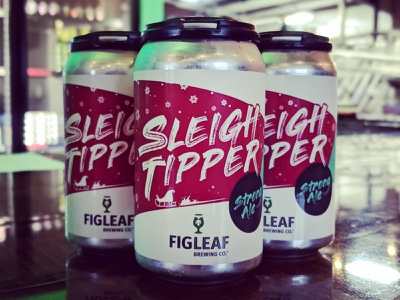 Figleaf Sleigh Tipper - Package Design beer label design strong ale winter sleigh package design packaging brewery beer label beer can beer