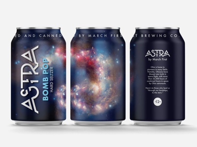 Astra Bomb Pop Seltzer Mockup packaging can design space galaxy beer can cans beverage packaging seltzer
