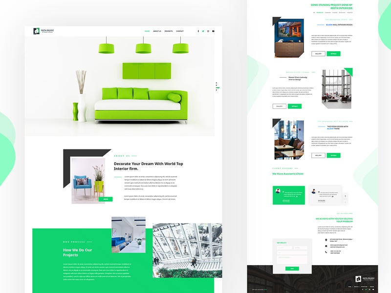 Landing Page Design For Reeth Creative Interior By Uix69