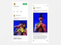 Social Blog App - User & Story Screens
