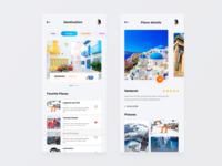 Travel App | Destination & Place Details screen