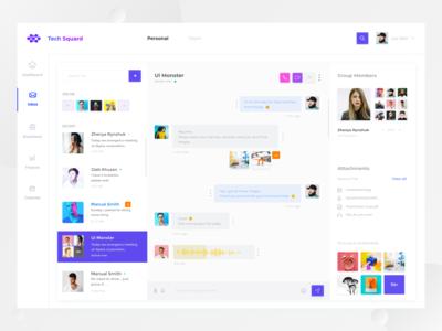 Tech Squard  Messaging Dashboard
