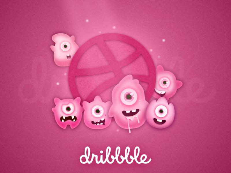 Hello Dribbble logo vector design ui illustration
