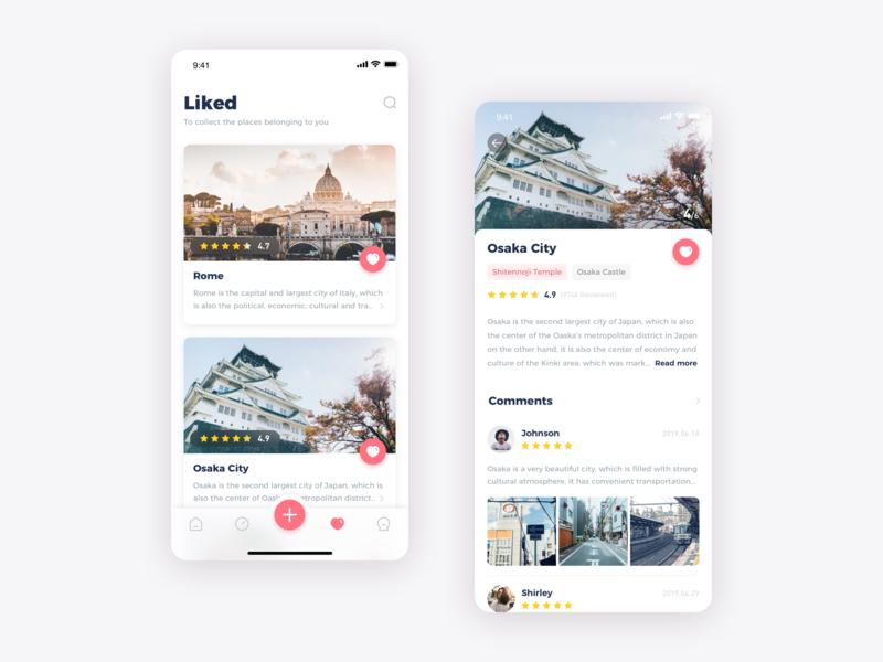 Travel App 01 by Tom Hu on Dribbble