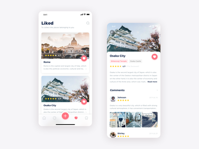 Travel App 01 product design app ui design card design travel sharing schedule user experience picture interaction sightseeing travel guide trip planner travel app user interface application mobile trip tour ux ui