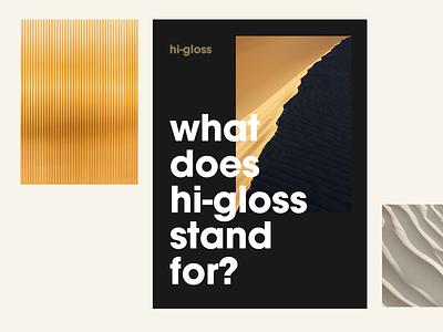 Hi-gloss branding