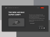 Neumorphism Web design - NIKE Air Max landing