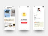Mobile App Design - interior and furnishings