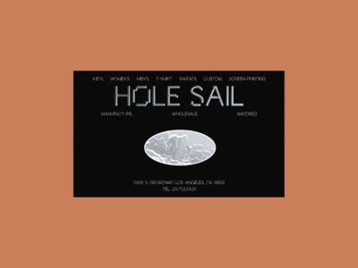 Hole Sail Concept Business Cards