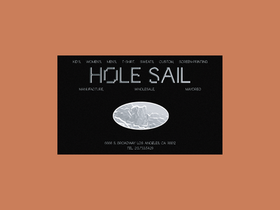 Hole Sail Concept Business Cards graphic design typography card