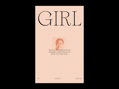 Girl by Jamaica Kincaid graphic design typography