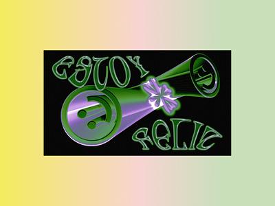 Estoy Feliz graphic design typogaphy glyphworld