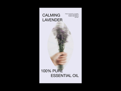 Lavender graphic design typography