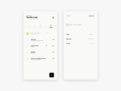 Daily UI #42 - ToDo List 042 ui dailyui