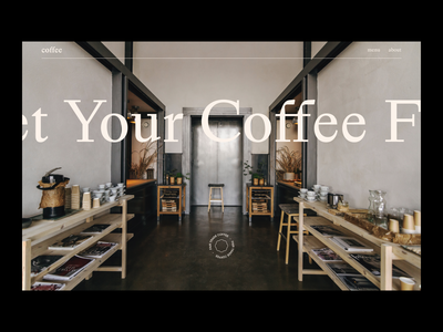Coffee Shop Landing Page hire me coffee typography