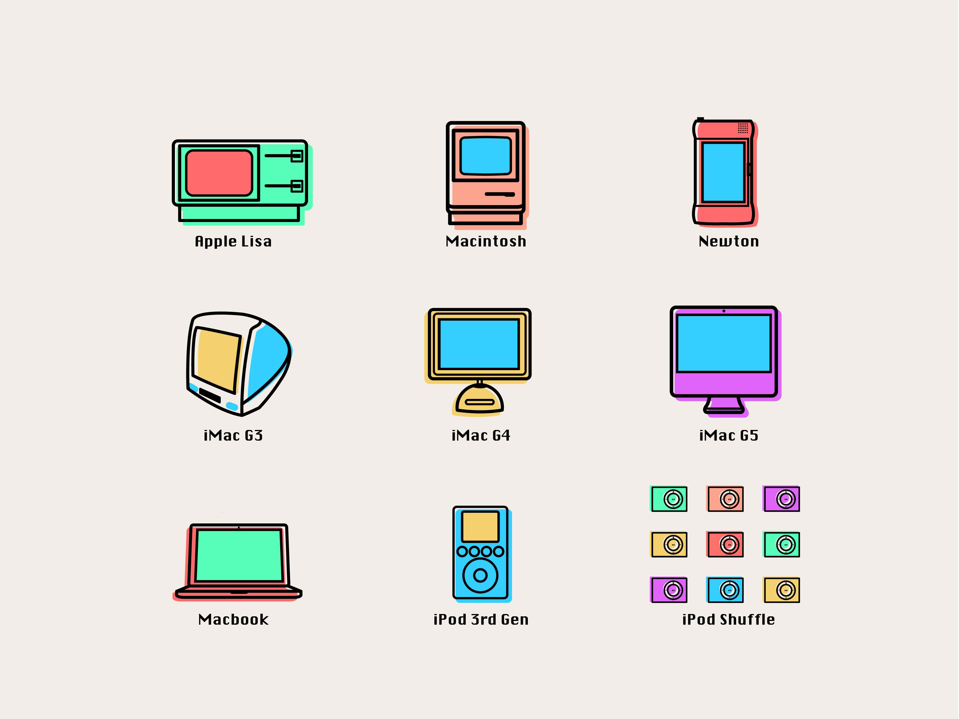 Apple icons color 01