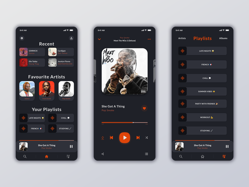 Music Player App photoshop design xd player app uiux ux ui music app music player music