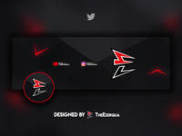 Personnal Twitter Header and AVI Package banner abstract photoshop design package avi header twitter