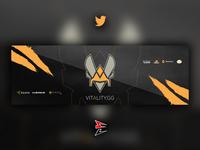 Twitter Header for Team Vitality design photoshop header twitter vitality gaming