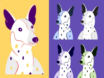 Minimalist Dog illustrations love hand drawn procreate dog minimal vector illustration flat