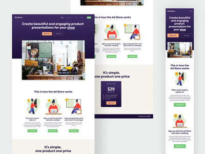 theadstore. prelaunch startup desktop ui mobile design mobile ui desktop design vector illustration web flat ux design ui