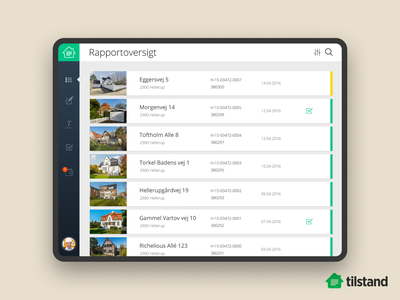 Building inspection tool (2014) startup flat design clean ui building constructor tool corporate app tablet ipad pitch ux ui design