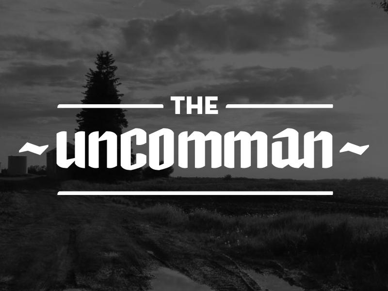 Uncomman Wordmark branding blackletter lettering typography logo edmonton