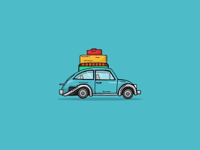 Traveling car illustration