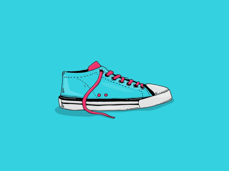Shoe illustration fashion shoes logo simple hand drawn vector minimalist minimal line art illustration flat design