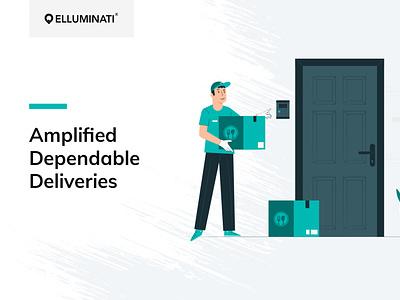 Deliveroo Clone - Social Media Kit For Elluminati Inc flat marketing design branding