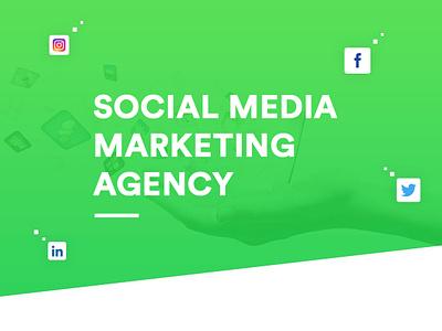 SMM Agency Web UI ssd social media advertising agency social media marketing company branding web flat design