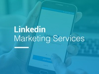 Linkedin Marketing Services Web Page Graphics
