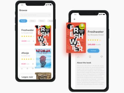E-book purchase app